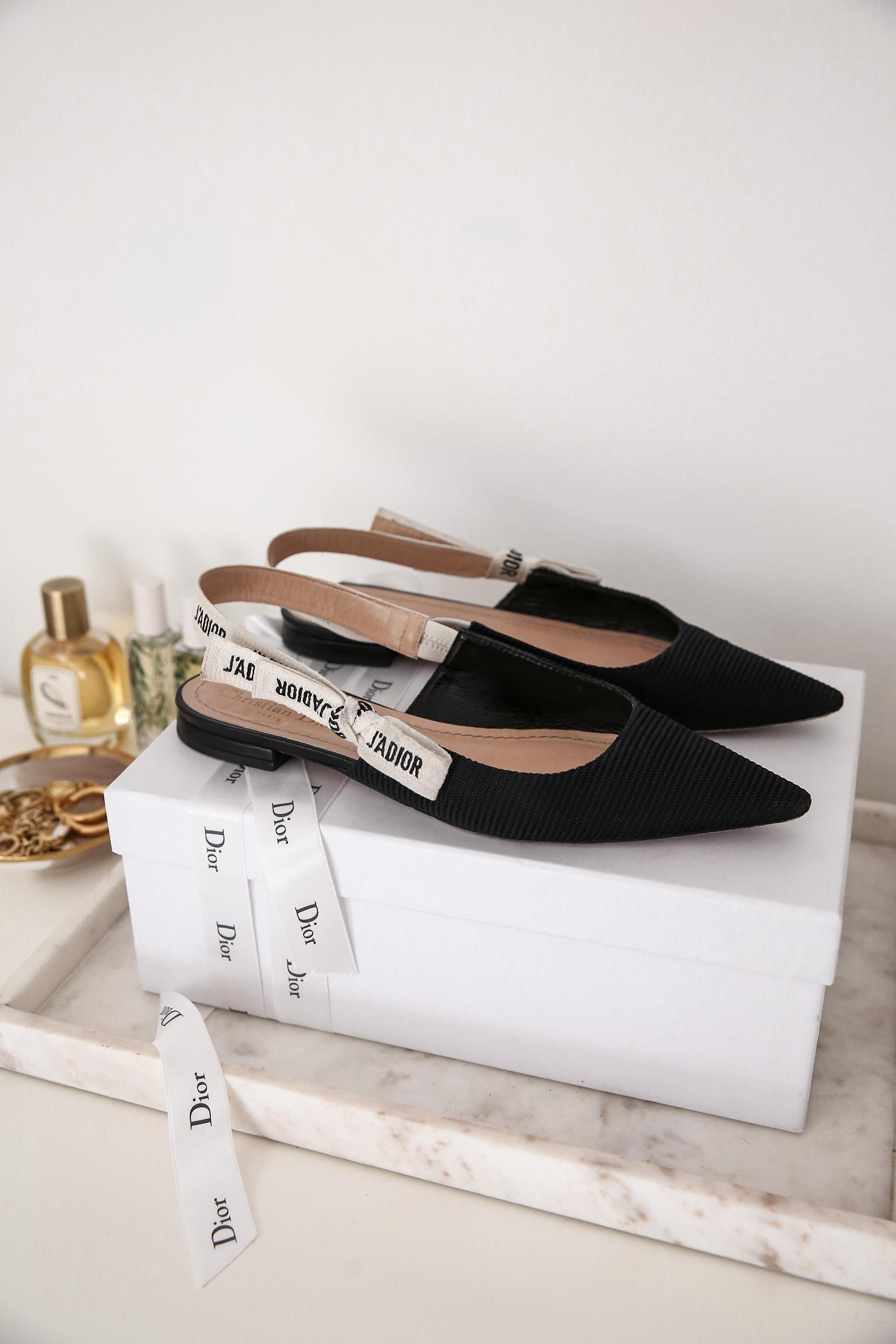 Dior J'adior Slingback Flats