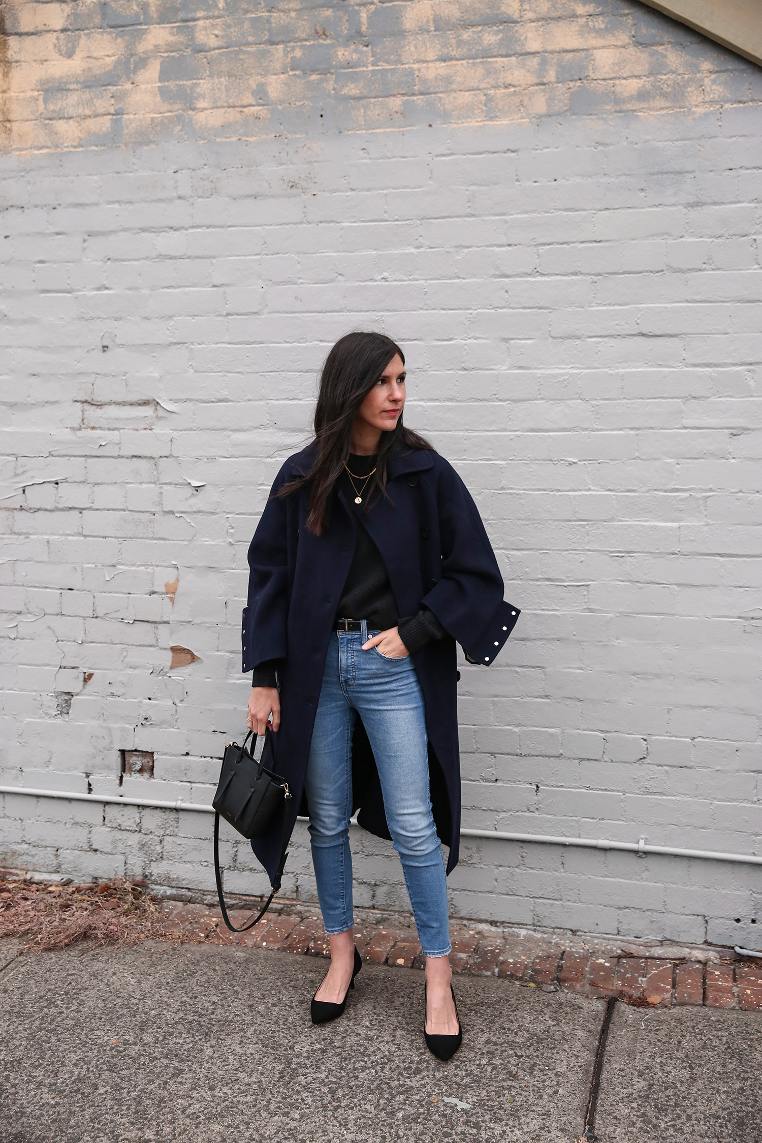 Jamie Lee of Mademoiselle wearing a Scandi inspired minimal outfit